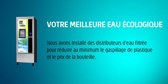 IVS France a installé des distributeurs d'eau filtrée pour réduire le gaspillage de plastique